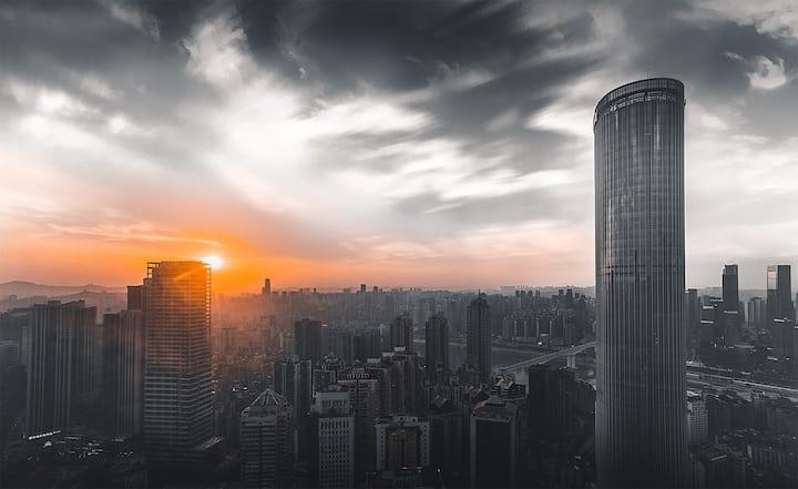 【在云端】5解放碑核心区200米高空俯瞰全城一居