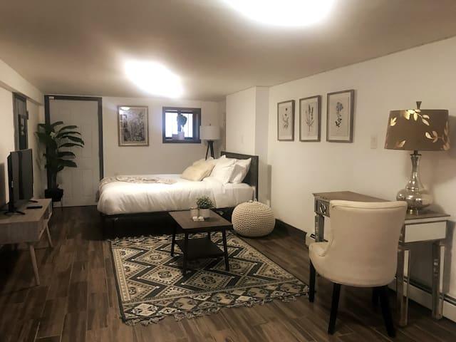 Beautifully Designed, Newly Reno- Basement Studio