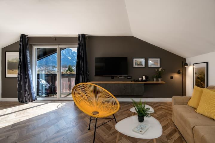 Superiorzimmer mit Balkon, Bergblick & Frühstück