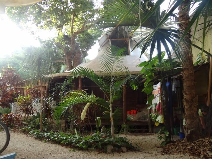 Cabaña rustica frente al manglar