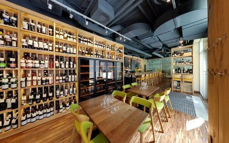Try the original Moravian wine in one of the best vinary restaurant in the Prague, Vinograf - only 2 min walk from the apartment