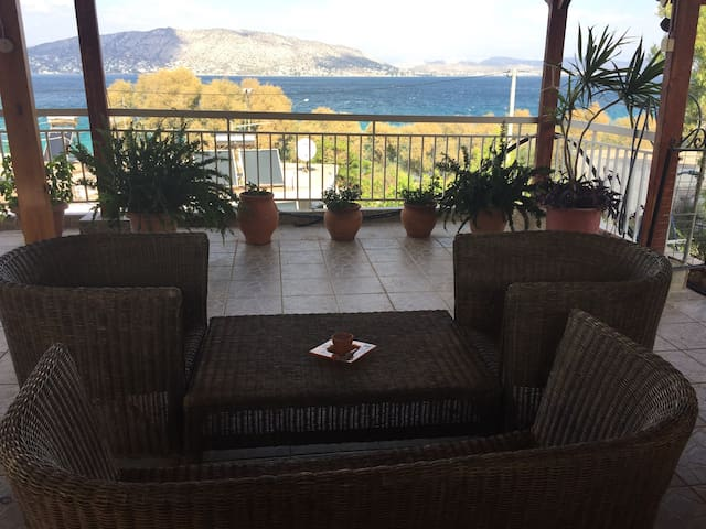 authentic Greek island oceanfront - Salamina