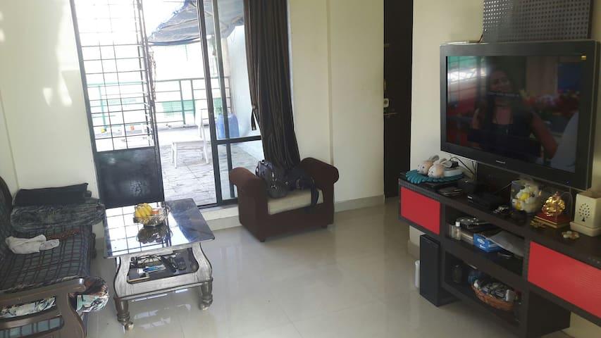 1bhk flat+private terrace flat for weekend getaway
