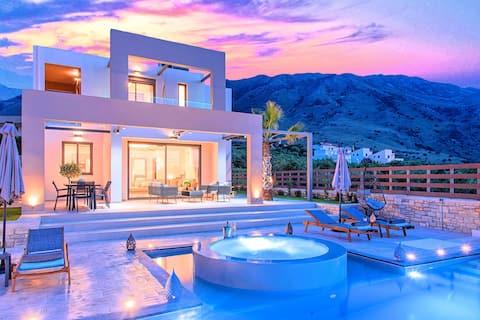 Minoas Sky Villa Heated Pool