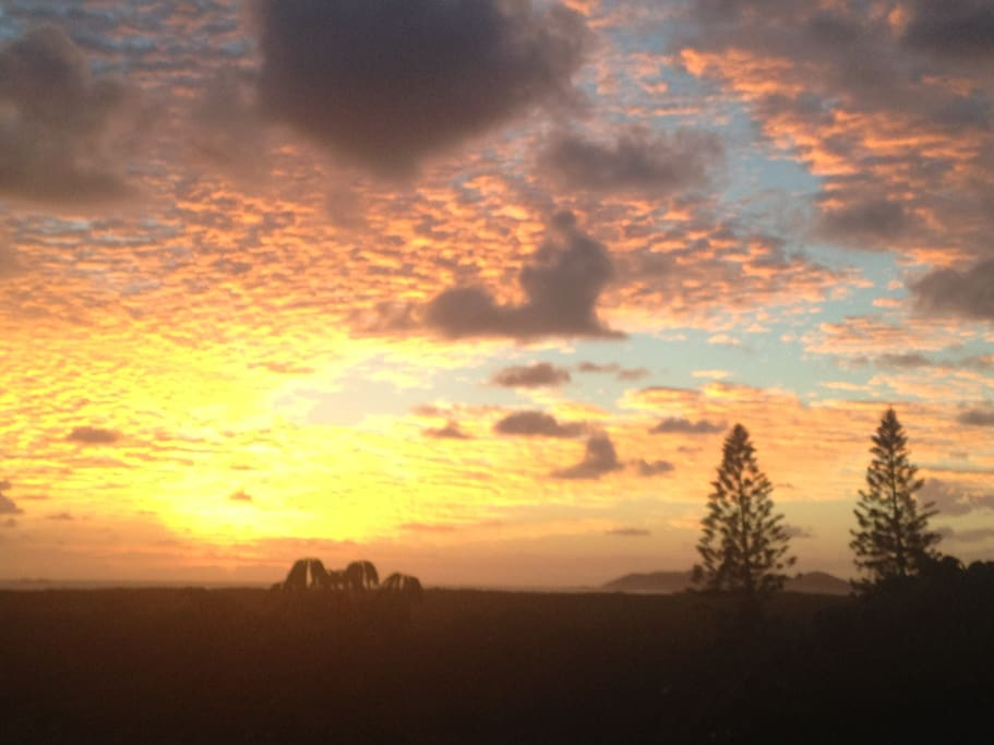 Songline Sunrise from the terrace of Bedroom 1