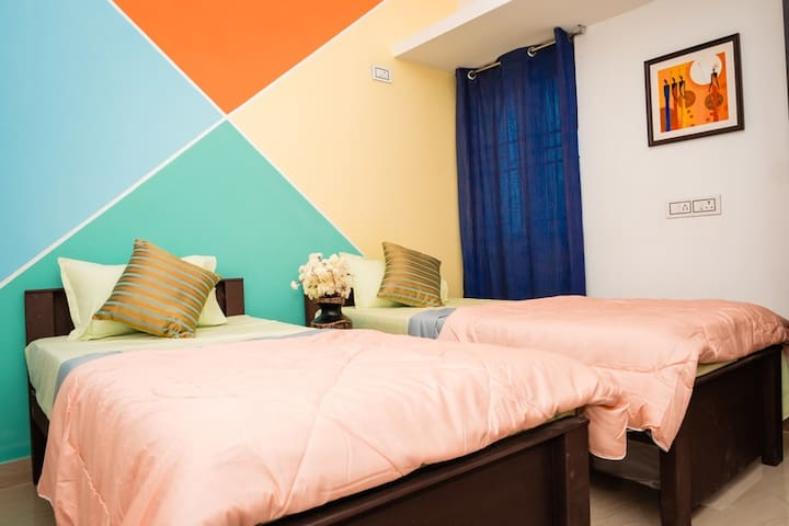 Helloworld Kovai | Private room in 2BHK - 01