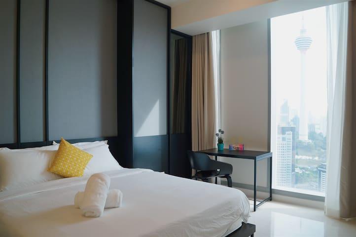 双子塔周边/吉隆坡塔全景Tropicana KL Tower View/1bedroom suite