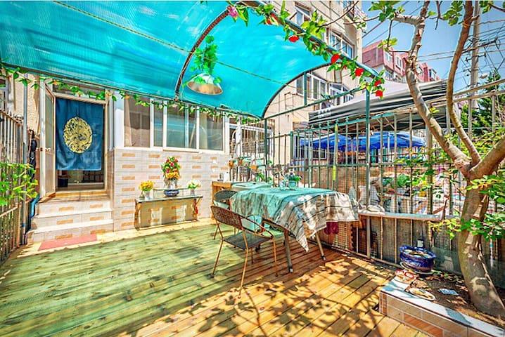 套二花园房,近栈桥八大关海底世界 - Qingdao - Lägenhet