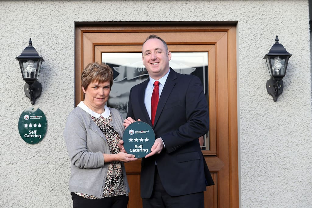 Isabella was awarded 4 star self catering by the tourist board for Northern Ireland