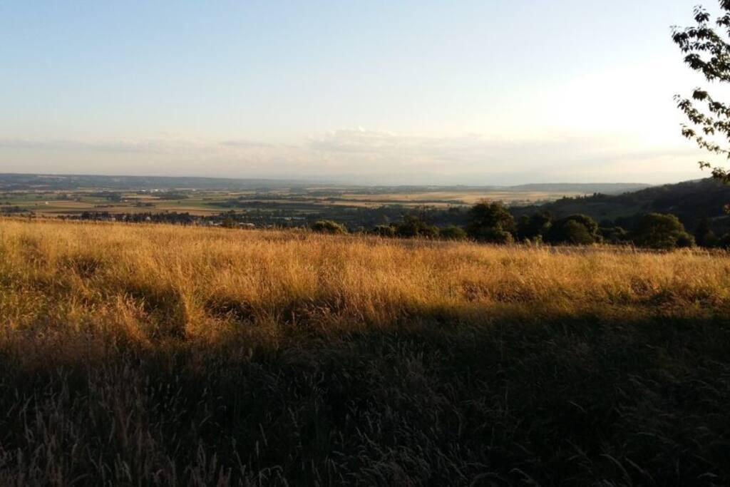 La vue panoramique sur la plaine de Bièvre