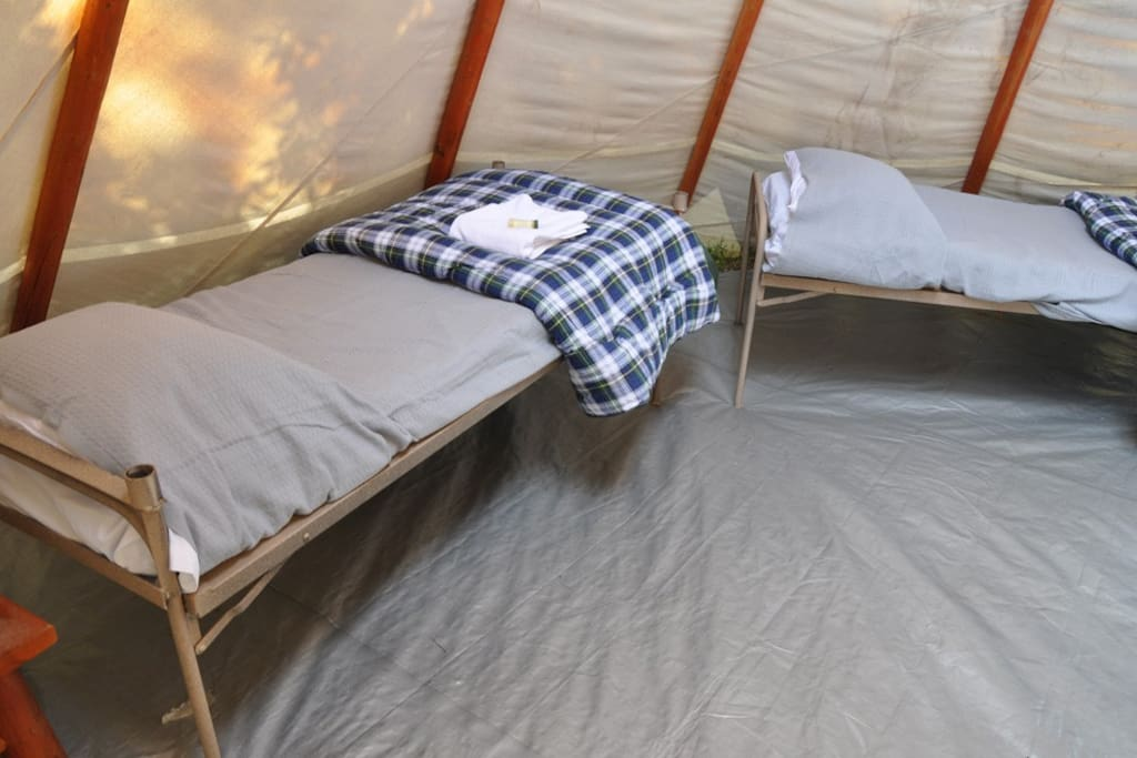 """6"""" matress on springs very comfortable"""