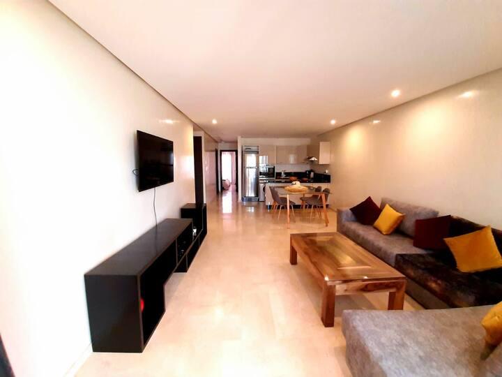 Appt standing 80 m2, 2 chambres, terrasse, piscine