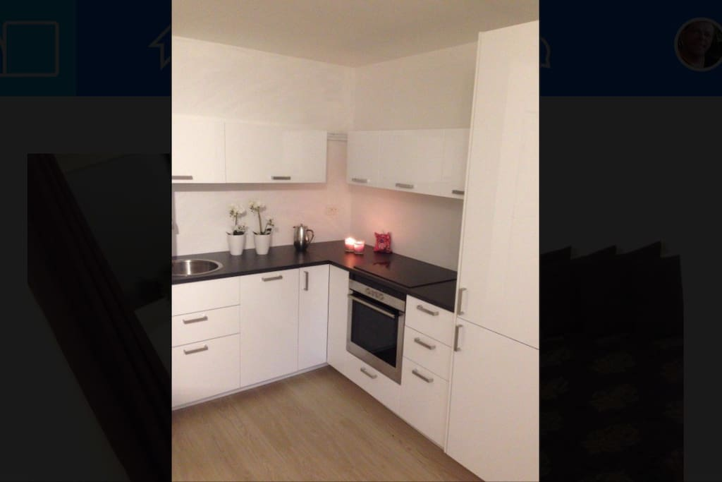 kitchen, dishwasher, fridge/freezer, cookingtop/oven