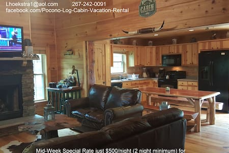 5 Bedrm Log Cabin in the Poconos - White Haven