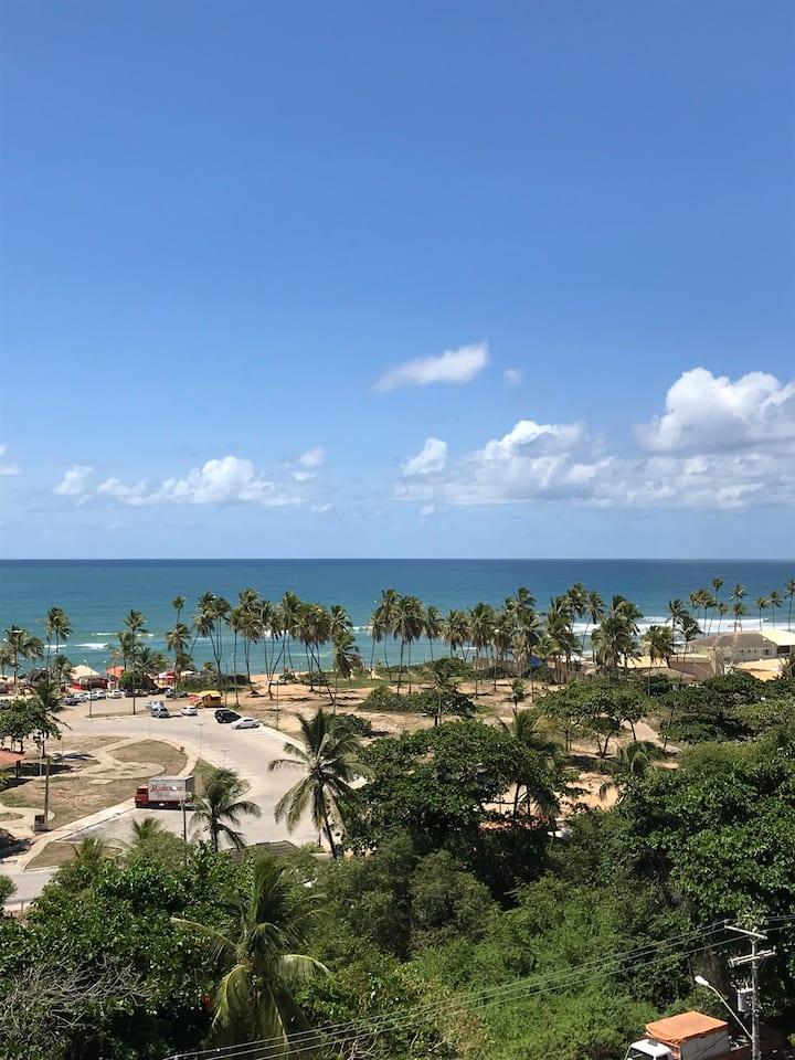 Apartamento com vista para a praia de buraquinho