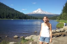 Trillium Lake is a great swimming spot and a 20 minute drive
