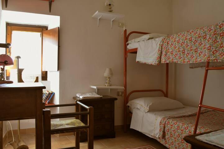 cameretta della torretta con letto a castello
