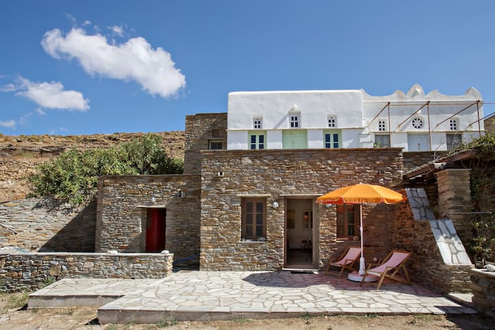 Traditional house in  Kolimpithra, Tinos