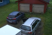 Lots of parking space on the property, right outside the door.