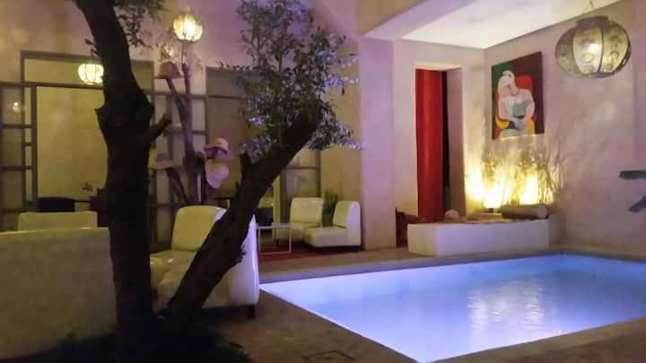 Nice Riad & Spa :  Pool, Hammam, Jacuzzi ⭐ ⭐ ⭐