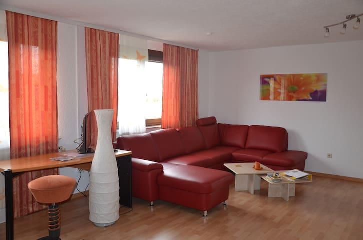 Große Ferienwohnung, nur 12 km zum Europa-Park - Forchheim - Apartment