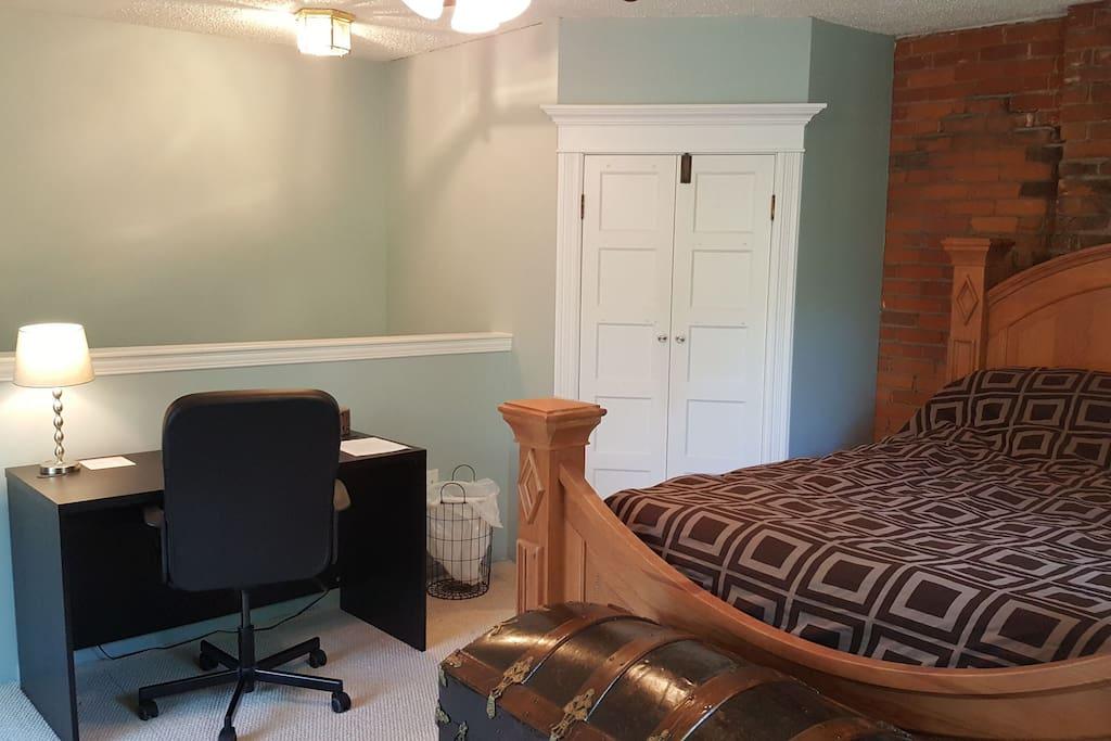 Your Bedroom in Loft Area : Desk + Walk In Closet