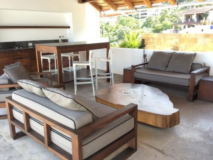 nice area to be and rest with cushions ,grill and chairs available