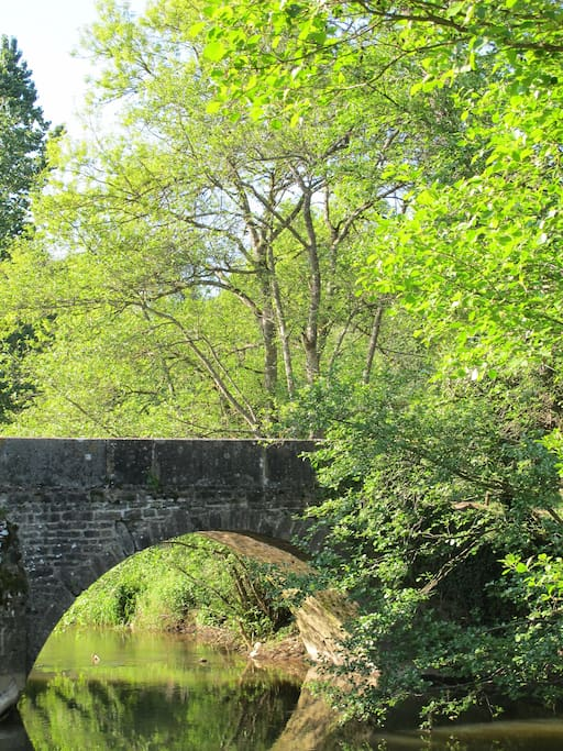 Pont au bout du parc privé