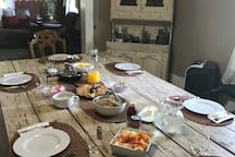 Country breakfast for guests