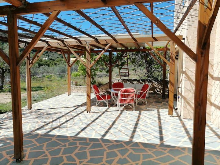 Aegina vacation house in a beautiful yard