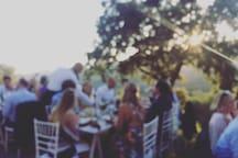 Dinner in the garden!