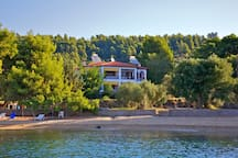 View of our Villa and Beach by the sea