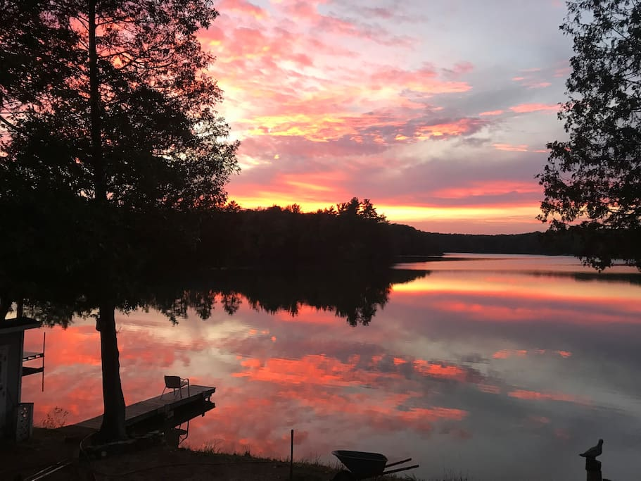 Sunsets on the lake are spectacular