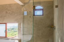 Master Bedroom Shower (notice the extra large Rain Shower).