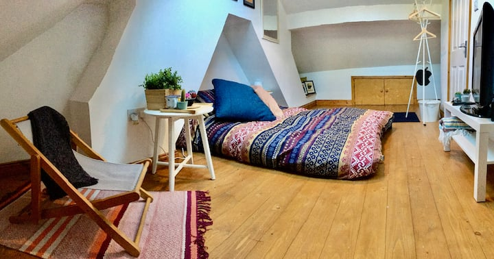 Spacious loft room in the Peak District