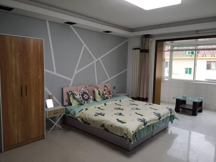 窝窝民宿  北美N1  南站店 (限时特价)大床房