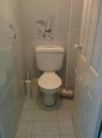 Separate toilet .