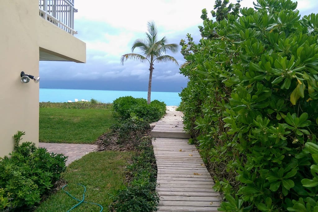 Path from condo to beach