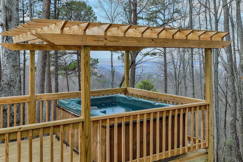 The private hot tub is sure to become your favorite spot!