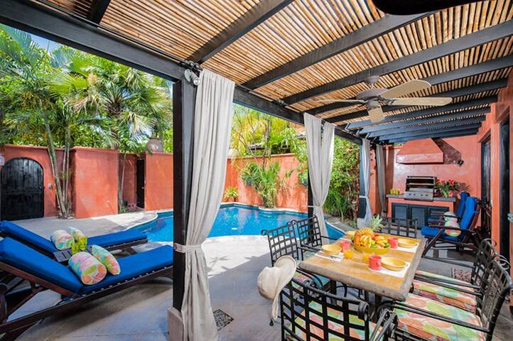 Private pool with private courtyard