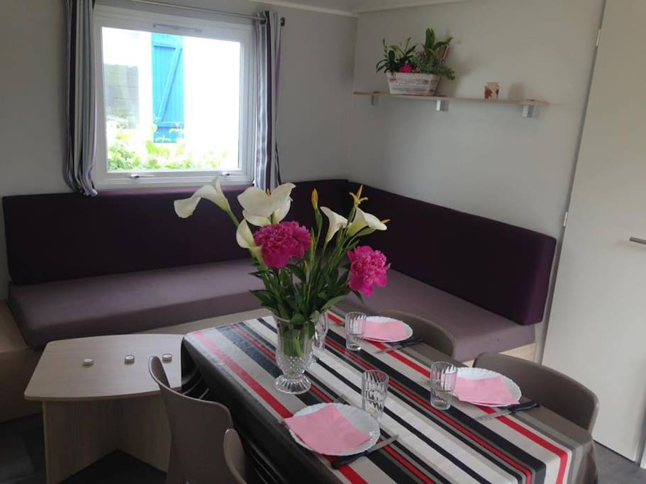 mobil home rouge