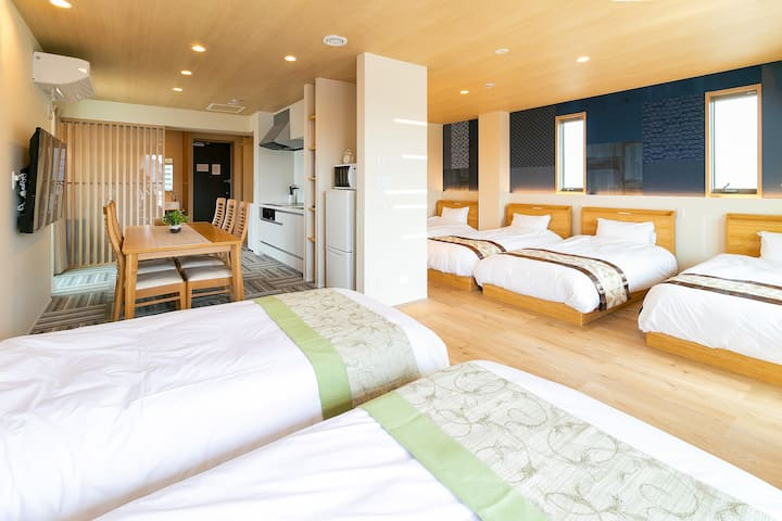 【Minn Kamata】 Suite ★ 6 PAX / Non-smoking / 5 min walk from JR Kamata Station / Kitchen / Free-WiFi