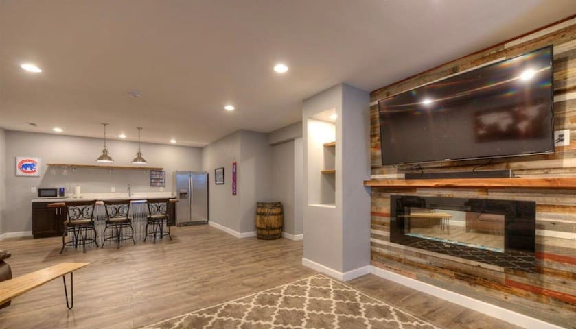 Cheyenne WY modern-rustic basement suite