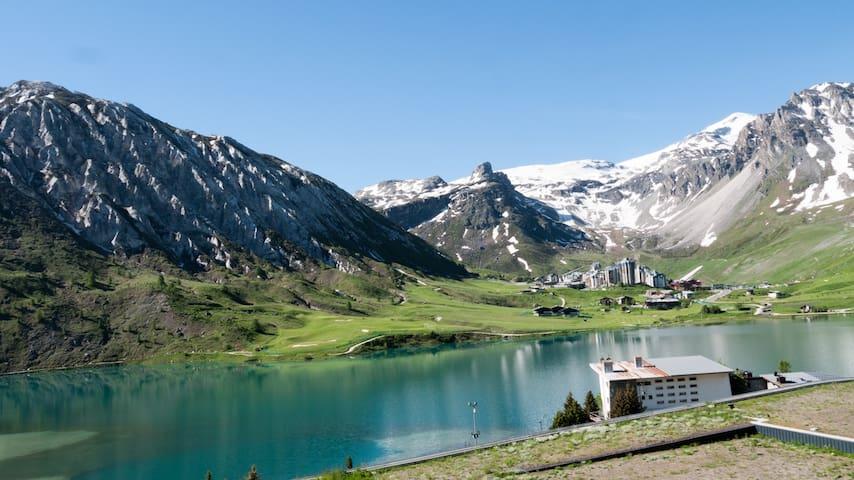Appartement vue lac et montagne plein sud - Tignes