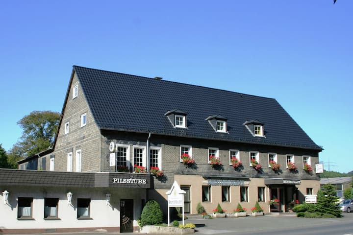 Modern holiday home in Sauerland with private restaurant and beer garden