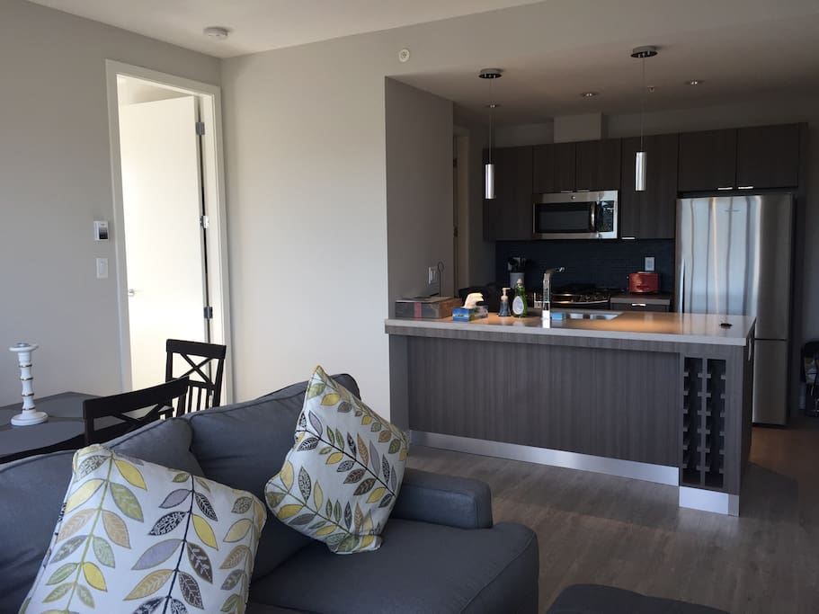 Living room and Kitchen breakfast bar