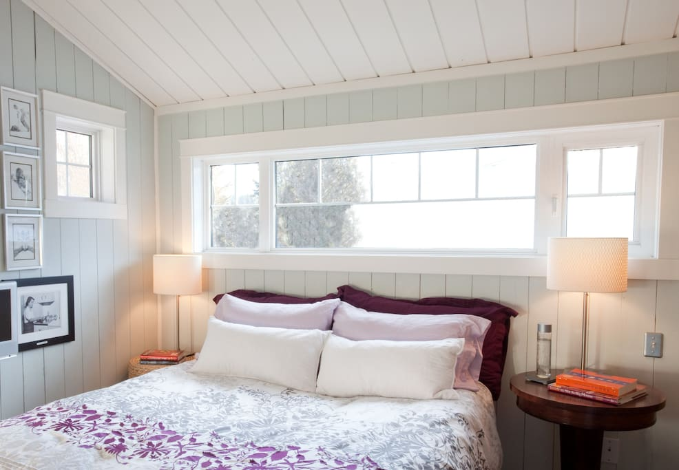 Master Bedroom with Large Upper Deck overlooking The Windemere Valley
