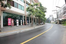 Building main street leading to Kamala Beach, 600 meters just 7 minutes walk.