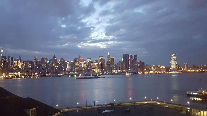 View of Manhattan from our living room