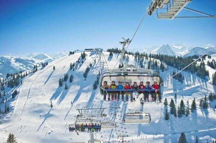 Bergsigt Ellmau Sudseite | Ski In - Ski Out